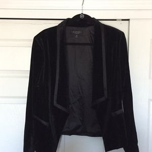 NWT Large Laundry Draped Velvet Blazer